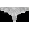 FLEUR DU MAL Metallic lace and satin-tri - Underwear -