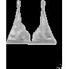 FLEUR DU MAL Metallic lace-trimmed satin - Biancheria intima -