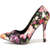 FLIRTY FLORIST BLACK FLORAL PRINT PUMPS - Классическая обувь - $34.00  ~ 29.20€