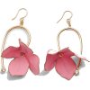 FLORA EARRINGS - Pink FLOWERS - Earrings -