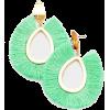 FLUTTER TASSEL EARRINGS-GRN - Earrings - $23.00
