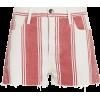 FRAME Le Fiery Stripe Cutoff Shorts - Shorts -