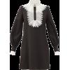 FRANÇOISE Lace-trimmed crepe mini dress - Vestiti -