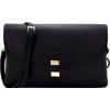 FRONT FLAP CROSSBODY BAG-BLK - Hand bag - $30.00