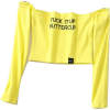 FUCK IT UP BUTTERCUP CROP TOP - Long sleeves t-shirts - $19.99