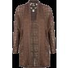 FULL TILT Crochet Panel Womens Sweater Brown - Cardigan - $14.97