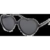 FULL TILT Rhinestone Heart Sunglasses Black - Sunčane naočale - $9.99  ~ 8.58€