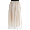 Fabulous Harmony Lace Mesh Skirt in Crea - Suknje - 26.00€  ~ 192,30kn