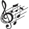 Falling music notes - Illustrations -