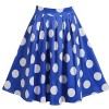 Fancyqube Women's Retro Pleated Floral Print Skirt - Skirts - $7.99