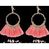 Fashion Bohemian Large Circle Fan-shaped Tassel Earrings Nhpf145115 - Earrings -