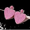 Fashion Creative Wild Popular Rice Beads Peach Heart Earrings Nhps265037 - Earrings -