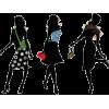 Fashion Trio in Silhouette - Otros -