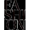 Fashion - イラスト用文字 -
