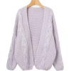 Fashion knit sweater cardigan - Cardigan - $45.99