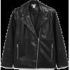 Faux Leather Biker Jacket - Jakne in plašči -