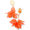 Feminine floral drop earrings - Orange - Uhani - $23.00  ~ 19.75€