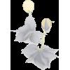 Feminine Floral Drop Earrings-Gry - イヤリング - $23.00  ~ ¥2,589