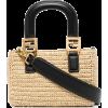 Fendi FF raffia mini tote bag - Hand bag -