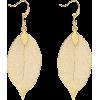 Filigree Leaf Drop Earrings - Earrings -