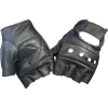 Finger-less leather gloves - グローブ -