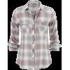 Flannel plaid button down shirt  - Košulje - kratke -