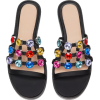 Flat black slide sandals - Sandals -