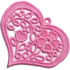 Floral Lace Heart  - Items - $5.50
