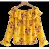 Floral Blouse - Hemden - kurz -