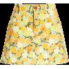 Floral Print Denim Miniskirt SIMON MILLE - Suknje -