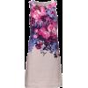 Floral Print linen dress - Vestidos -