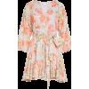 Floral Tie Front Cotton Dress ALICE + OL - Haljine -