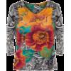 Floral V Neck Top - Jerseys -
