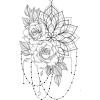 Floral and Chain Design - Illustrations -