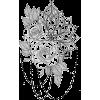 Floral and Chain Design - Ilustracije -