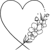 Floral and Heart Design - Ilustracje -