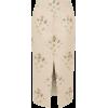 Floral-jacquard front-slit satin skirt - Röcke -