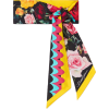 Floral-print silk-twill scarf - Scarf -