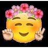 Flower Crown Emoji - Illustrations -