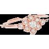 Flower Diamond Ring, Flower Promise Ring - Anelli -