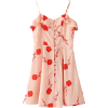 Flowers lotus leaf hollow strap dress - Dresses - $27.99