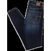 Folded Dark Denim - Jeans -