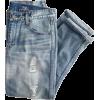 Folded Denim Jeans - Jeans -