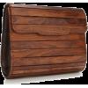 French connection wooden clutch - Borse con fibbia -
