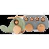 Friendly toys (etsy) wooden plane + bus - Articoli -