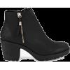 Fringe Trim Block Heel Chelsea Boots - Boots - £25.00  ~ $32.89