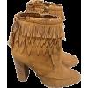 Fringe ankle boot - Dresses -