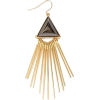 Fringed Geo Drop Earring - Aretes -