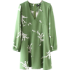 Fruit green retro long-sleeved holiday d - Obleke - $27.99  ~ 24.04€