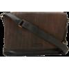 Frye James Veg Cut Leather DB106 Messenger Bag Dark Brown - Bolsas de tiro - $548.00  ~ 470.67€